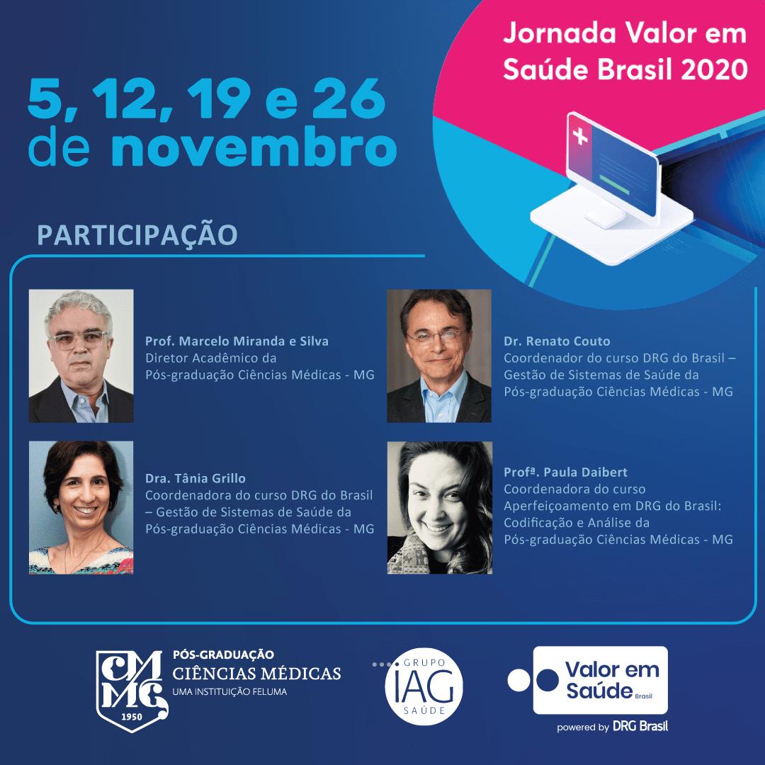 Pós-graduação Ciências Médicas - MG é co-realizadora da Jornada Valor em Saúde Brasil 2020